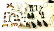 Mixed Lot Lemax China Porcelain Winter Christmas Village Electric Decorations