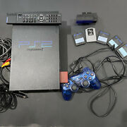 Sony Playstation 2 Ps2 Fat Scph-30001 Console Controller Memory Cards Remote
