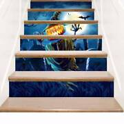 6pcs Halloween Party Stair Decals Staircase Stickers Wall Room Decor Waterproof'