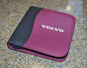 Oem Volvo Cd Dvd Holder Carrying Case Pouch Brand New Rare Black And Red