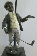 Golf Figurine Lamp Signed Peter Mook Dale Antiques Roadshow Collection