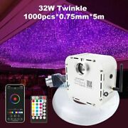 Fiber Optic Light Starry Sky Cable 32w Bluetooth Control Ceiling Twinkle Effect