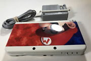 Nintendo New 3ds - White Super Mario 3d Land Limited Edition W/stylus And Charger