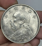 1914 Chinese Fatman Dollar Excellent Details Cleaned Scratches