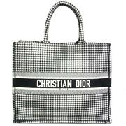 Christian Dior Houndstooth Book Tote Bag Ladies Genuine Free Shipping From Japan