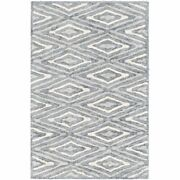 Quartz Qtz-5015 9and039 X 13and039 Rectangle Area Rug In Charcoal/light Gray/cream