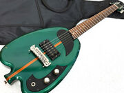 W5546 H.s.anderson Hs-al Houston Green Electric Guitar Apple 0528 Secondhand