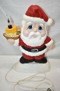 Vintage Santa Claus Flickering Candle Flame Table Lamp