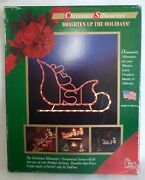 Markee Products 1996 Christmas Silhouette Light Up Santa Sleigh Window/outdoor