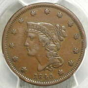 1840 Braided Hair Large Cent Small Date Choice Very Fine Pcgs Vf-30