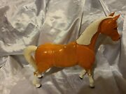 Vtg Toy Plastic Horse Palomino W Germany Articulated Jointed Head Neck Leg 13.5
