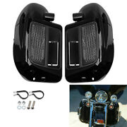 1 Pair Motorcycle Lower Vented Leg Fairing Glove Box Water-cooled For Harley Cvo