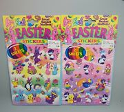 Lisa Frank Stickers Scentsations Cat Rose And Easter Puppy 2 Pack 4 Sheets New Nip
