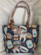 Bnwt Disney Cruise Line Dcl Dooney And Bourke Itinerary Janie Tote Bag Purse