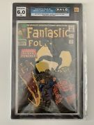 Fantastic Four 52 First Appearance Of Black Panther Halo Graded 6.0 Fn Cgc