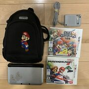Nintendo 3ds Xl Mario And Luigi Dream Team Silver Handheld System 2games Tested