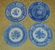 Spode Blue Room Collection Floral Botanica Blue And White Set Of 4 Dinner Plates