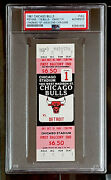 Isiah Thomas 1st Home Game And 2nd Career Game Psa Authentic / Bulls Vs Pistons