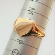 Antique Edwardian 18ct Gold Heart Shaped Shield Signet Ring C1909 Uk Size And039oand039