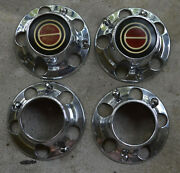 1985/97 Ford Truck Bronco F Series Centercaps Set0and0394 Red W/ Hub Holes And Screws