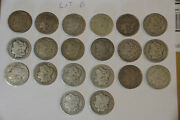 Morgan Silver Dollars Roll Mixed Dates And Mints Lot Of 20 Lot B