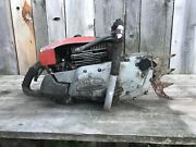 Used Vintage Pm Canadian 276 Gear Drive Chainsaw Large Dog Full Wrap Good Spark