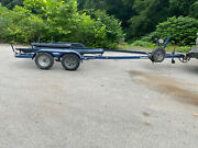 1993 Trailmaster Dual Axle Boat Bunk Trailer For 21and039-22and039 Boat