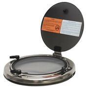Bomar Boat Portlight Window Glg302gy06 | Round 10 3/4 Inch Frosted