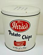 Vintage Mrs. Ihrieand039s Potato Chips Tin Can Baltimore Md A Pip Of A Chip