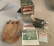 Vintage Pflueger Summit No.1993-l Casting Reel With Box And Bag And Extras Rare