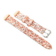 1 Pc Leather Watch Band Sequined Watch Wristband Compatible For Fitbit Inspires