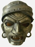 Antique 1930and039s Art Deco Theater Pirate Face Mask Wall Sconce Cast Metal Retro