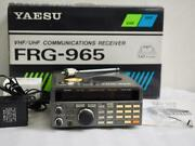 Yaesu Frg-965 Wideband Receiver 60-905mhz Range 60 To 905mhz Used F/s From Japan