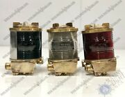 Ship Salvaged Tranberg Serie Antique Old Electric Lamps Lot Of 3 Green/grey/red