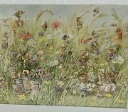 Vintage Springbok 500 Pc Puzzle Spring Fling With Vera The Mouse New Sealed