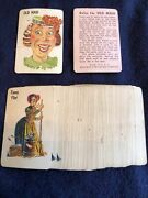 Vintage 1951 Whitman Mini Cards Old Maid Card Game W/ Rules