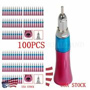 100nsk Style Dental Low Speed Handpiece Straight Nosecone E-type Pink Usps