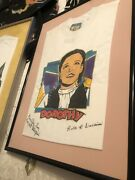 Wizard Of Oz Signed Shirt In Frame Munchkins Signed Rare Vintage