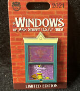 Disney The Windows Of Main Street Usa Figment Pin Le 3000 New In Hand
