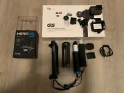 Go Pro Hero 5 Black Bundle With Accessories + G5 3 Axis Handheld Gimbal In Box