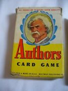 Vintage Authors Card Game, Whitman 3010, Mark Twain On Cover Complete