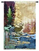 Ghosts Of The Tall Timber North American Made Woven Tapestry Wall Hanging