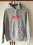 Supreme X Comme Des Garcons Shirt Auth 2012ss Box Logo Dot Hoodie S From Japan