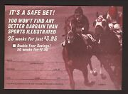 Horse Racing--sports Illustrated--1972 Subscription Card