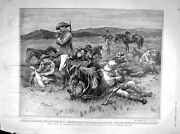 Original Old Antique Print 1902 Horses South Africa Siers War Officers 20th