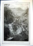 Old Print Mountain Ghyll Jh Crossland Native Officers 1st 3rd Indian 1917