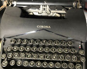 Vintage Lc Smith And Corona Typewriter With Case Sn 2c208778
