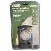 Utilitech Outdoor 2 Outlet Timer 0155550 Rain-tight Cover 48 On/off Settings 7