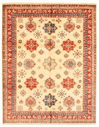 Vintage Geometric Hand-knotted Carpet 8and0390 X 10and0390 Traditional Wool Area Rug