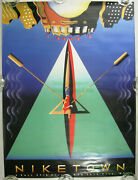 Nitf Nike Town Poster ☆ Sculling Rowing New York 57th Street ☆ Terry Allen Art